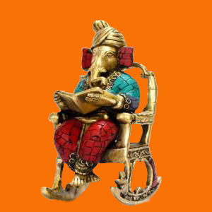 Ganpti Idols with swing chair